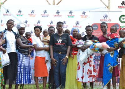 Distributing nets in Uganda