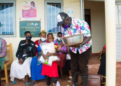 Rotary sharing food and drinks