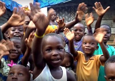 Happy kids in local village